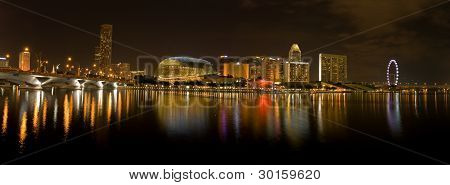 Singapore City Evening Skyline,