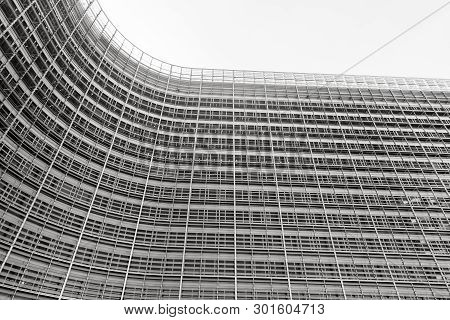 Brussels, Belgium - May 14, 2019: Brussels European Commission. The Berlaymont Is An Office Building