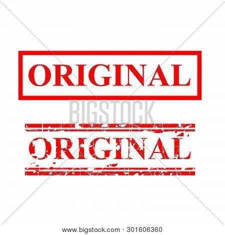 Vector Original, 2 Style Streak Red Rubber Stamp