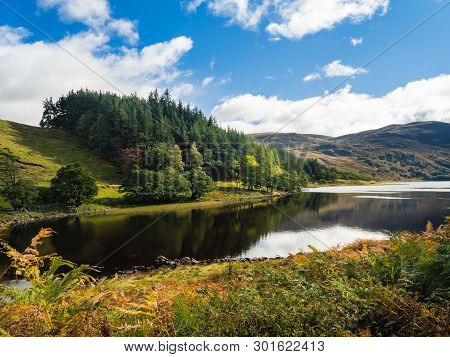Picturesque Loch Killin In Scottish Highlands, Uk