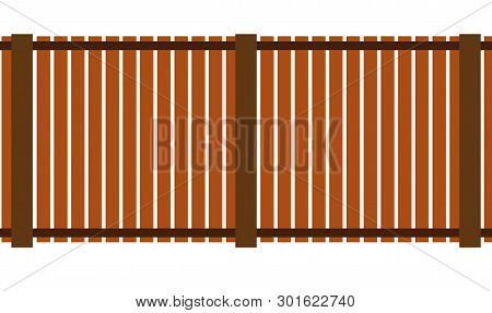 Simple Fence Vector Icon Eps10 Metal Fence Wooden Fence