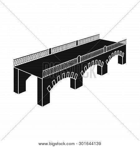 Vector Design Of Bridge And Relocation Symbol. Collection Of Bridge And Column Stock Vector Illustra