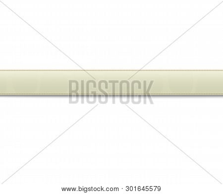 Textured Belt Or Waistband Realistic Vector Illustration Isolated On White.