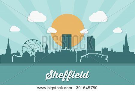 Sheffield Skyline - Vector Illustration - Vector