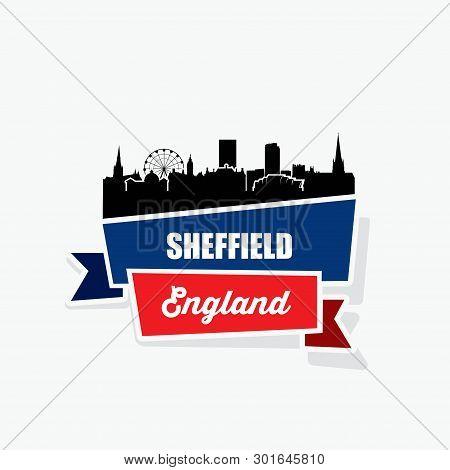 Sheffield Ribbon Banner - Vector Illustration - Vector
