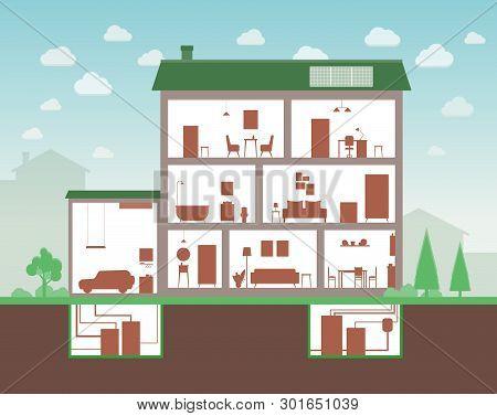 House Cut Inside Vector Photo Free Trial Bigstock