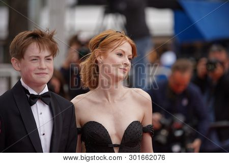 Emily Beecham and Kit Connor attend the screening of