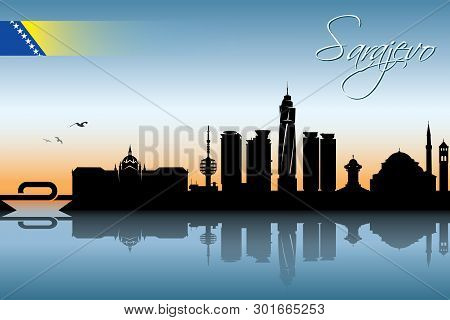 Sarajevo Skyline - Vector Illustration - Vector