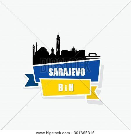 Sarajevo Ribbon Banner - Vector Illustration - Vector