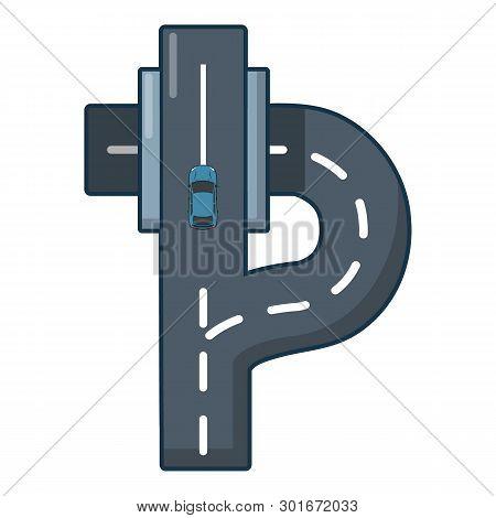 Autobahn Icon. Cartoon Illustration Of Autobahn Icon For Web.
