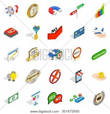 Mastery Icons Set. Isometric Set Of 25 Mastery Icons For Web Isolated On White Background