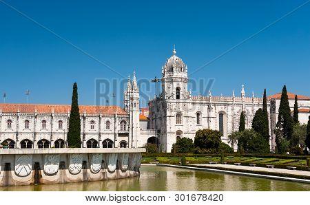 Mosteiro Dos Jeronimos In Lisbon On A Bright Day