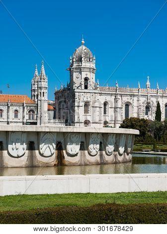 Mosteiro Dos Jeronimos In Lisbon City On A Bright Day