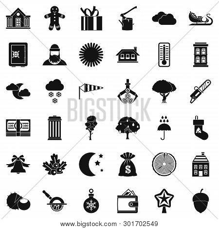 Rural Lifestyle Icons Set. Simple Set Of 36 Rural Lifestyle Icons For Web Isolated On White Backgrou