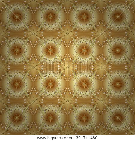 Vector Sketch. Lace Pattern. Vector Sketch. Sketch, Scribble, Doodle On Yellow And Beige Colors. Rep
