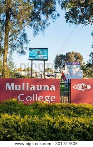 Melbourne, Australia - May 18, 2019: Mallauna College Is A Public Secondary College In Mitcham In Th