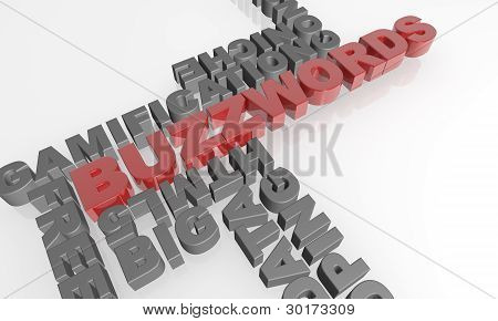Buzzwords 3D text - XXXL
