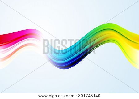 Modern Colorful Flow Poster. Wave Liquid Shape Color Background. Art Design For Your Design Project.