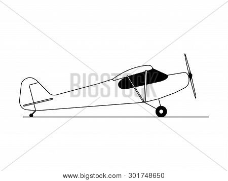 Hobby Airplane Side View Illustration Vector Isolated.