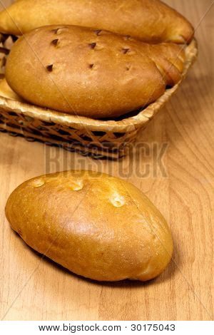 Russian trational baked food  - pastry on a plate poster
