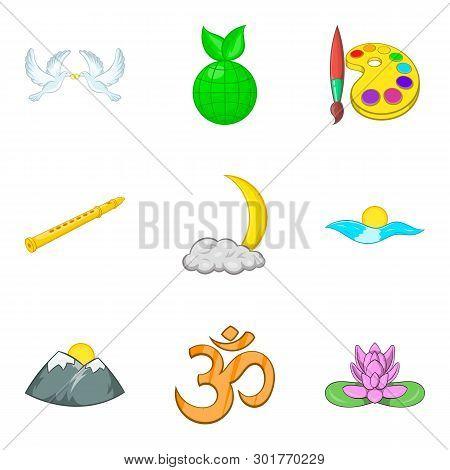 Unanimity Icons Set. Cartoon Set Of 9 Unanimity Icons For Web Isolated On White Background