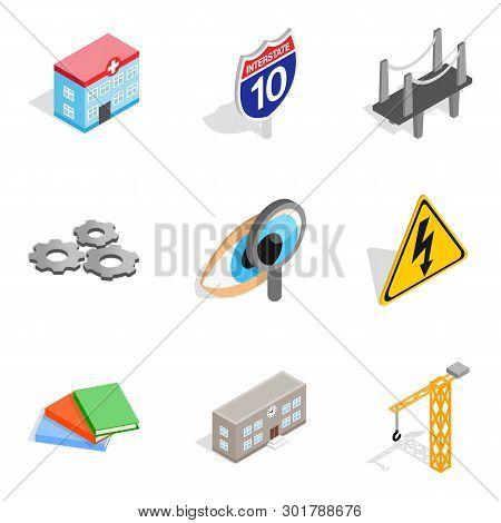 Cutting Edge Technology Icons Set. Isometric Set Of 9 Cutting Edge Technology Icons For Web Isolated