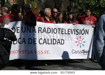 TV workers in a protest demontration 12