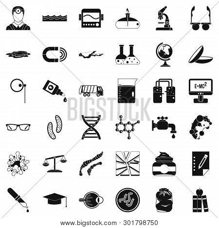 Professional Widget Icons Set. Simple Set Of 36 Professional Widget Icons For Web Isolated On White