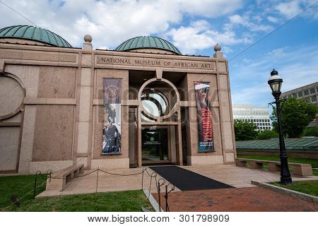Washington, Dc - May 9, 2019: Exterior Of The National Museum Of African Art, Part Of The Smithsonia