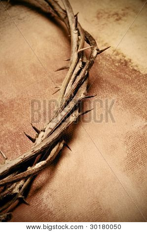 close up of a representation of the Jesus Christ crown of thorns