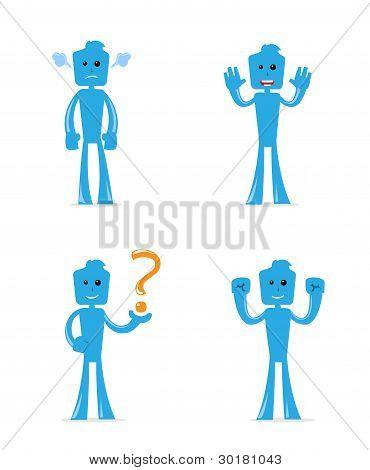 Blu fun pose