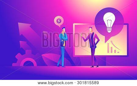 Business Idea, Partners, Together, Teamwork Concept. Business Partners Discussing Project Concept. I