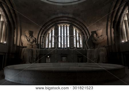 Leipzig, Germany - October 2018: Interior Of The Monument To The Battle Of The Nations, Memorial Of