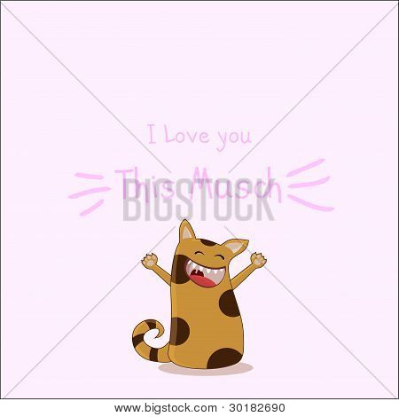 kitty i love you that much card poster