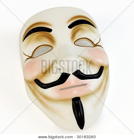 3D Mask Anonymous Face Symbol