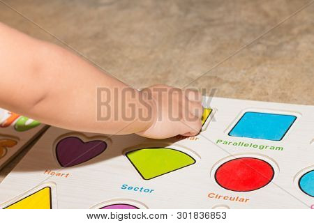 Little Girl With Toy Numbers Educational Games At Home, Board Games For Children Modern Learning,gir