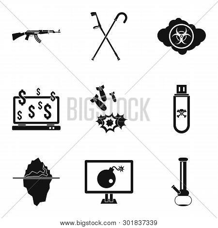 Oppression Icons Set. Simple Set Of 9 Oppression Icons For Web Isolated On White Background