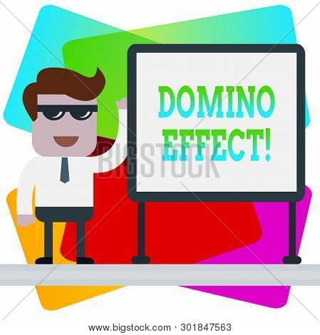 Word Writing Text Domino Effect. Business Concept For Chain Reaction That Causing Other Similar Even
