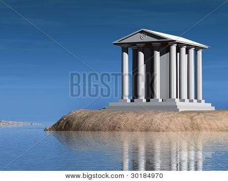 Temple On Island
