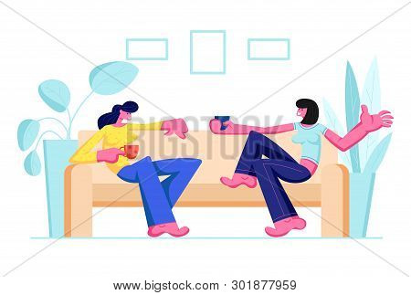 Couple Girl Friends Vector Photo Free Trial Bigstock