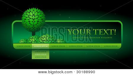 Vector web site design template. Green concept. Easy editable. Elements are layered separately in vector file.