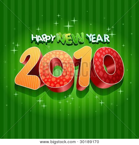 Happy new year 2010! All elements are layered separately in vector file.