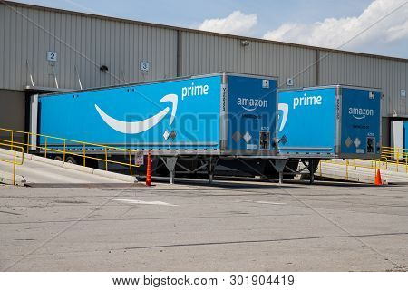 Indianapolis - Circa May 2019: Amazon Prime Transportation And Logistics Location. Amazon Is Expandi