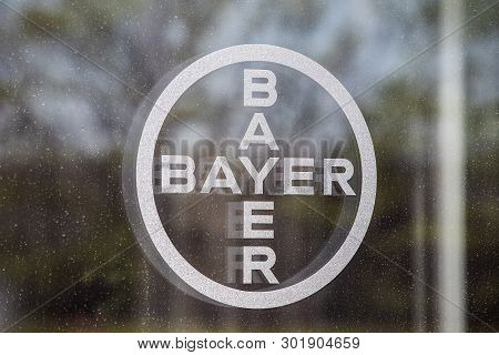 Whitestown - Circa May 2019: Bayer Ag Logo. After The Acquisition Of Monsanto, Bayer Is Responsible