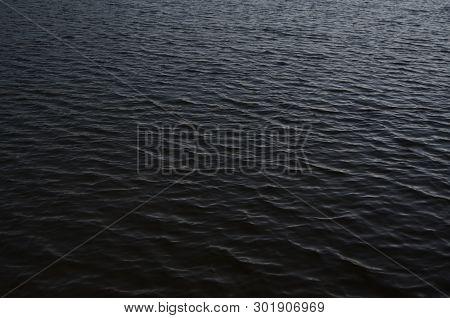 Water Level Of The Lake. South Bohemia, Czech Republic