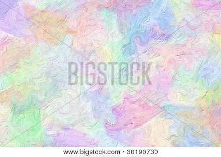 Multi-colored Brush Strokes