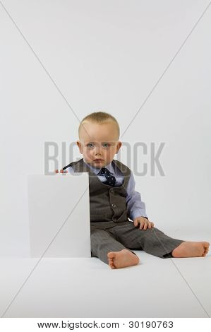 Business Baby In Suit