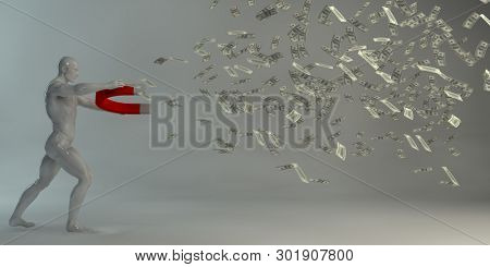 Profitable Business Investment and Idea as an Abstract 3D Render