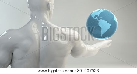 Enterprise Resource Planning Software Solution for Worldwide Business 3D Render