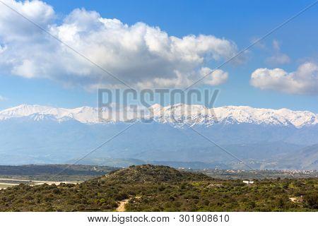 Scenery of the White Mountains on Crete, Greece